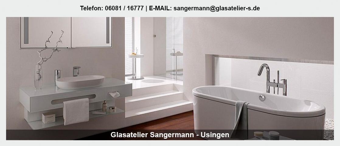 Glas im Raum Grebenhain - Glasatelier Sangermann: Glaswände, Duschen, Leuchtdecken