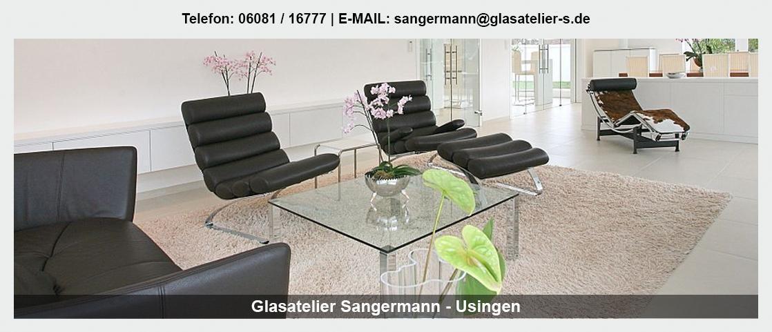 Glas in der Nähe von Nidda - Glasatelier Sangermann: Spiegel, Trennwände, Glastüren